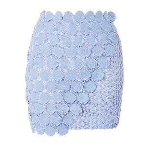 Topshop pencil skirt. Power blue, size 12.